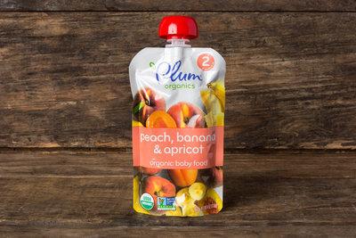 Thumb 400 plum organics organic peach apricot banana baby food 6 mos 4 oz